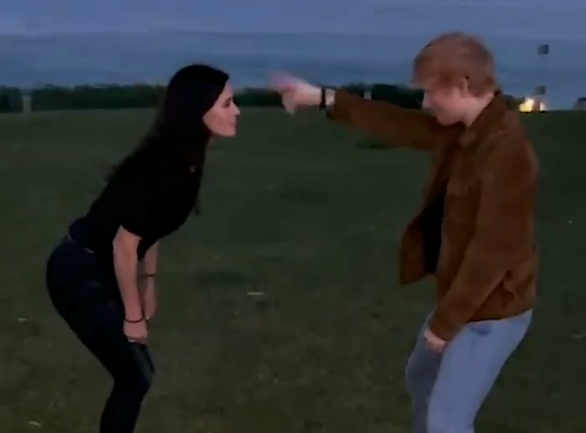 Ed Sheeran Courteney Cox